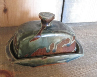 Butter Dish, Hand Thrown Stoneware Pottery, by Jennie Blair, kitchen, home