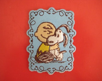Self-Adhesive PVC Sticker/ iron-on Patch Snoopy & Charlie Brown 2.5 inch