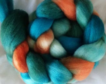 "Hand Dyed BFL Combed Top 4Oz.  ""Fiesta"""