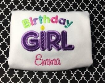 Birthday Girl Short Sleeve Ruffle Shirt