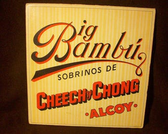 Cheech and Chong NM vinyl - Big Bambu - Includes large rare rolling paper - Vintage album in NM Condition