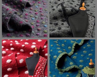 DOTTY - Felted wool fabric