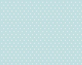Organic KNIT Fabric - Cloud9 Tout Petit - Polka Dots Blue