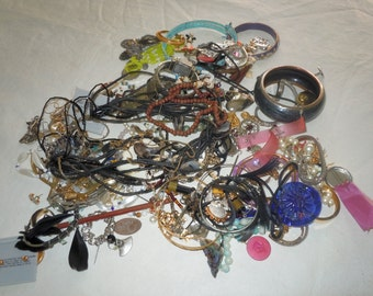 Over 3 pounds vintage estate costume jewelry for repurpose