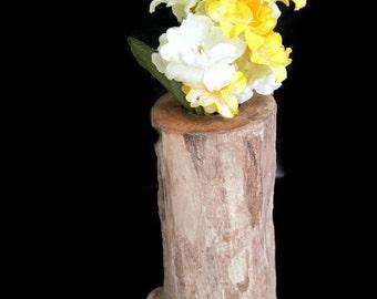 Driftwood maple flower vase/candlestick holder