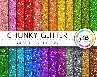 Glitter Digital Paper, Glitter Paper, Scrapbook Paper, Chunky Glitter, Glitter Texture, Glitter Digital, Glitter Background, Mid-tone