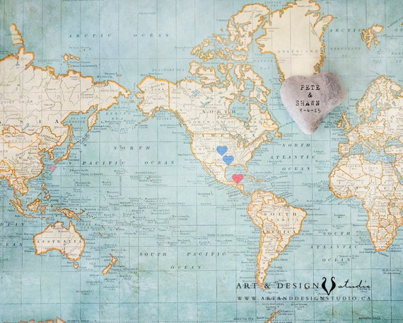 Wedding Gifts for Couple, Wedding Gift Travel Map, Anniversary Map ...
