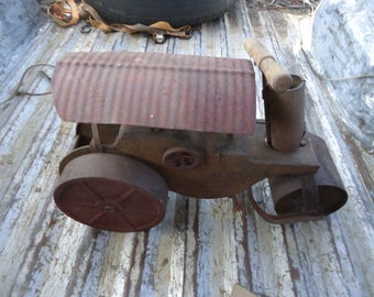 Vintage Keystone Ride On Steel Steam Roller Restoration Project, collectable