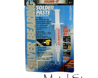 SILVER BEARING Solder Low Temperature will work with the heat of a lighter MULTIMETAL Solder