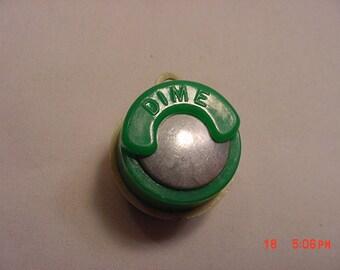 Vintage Key Chain Dime / Nickel Holder