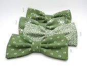 Sage Green Bow tie, Mix and Match Bow Tie, Bow Tie for Wedding, Floral Bow Tie, Mens bow tie, Bowtie for groom  groomsmen, Wedding Bow Tie