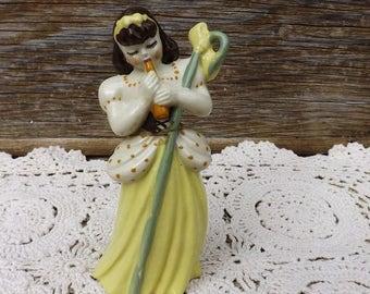 Country Girl Porcelain Figurine