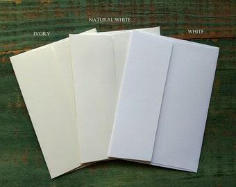"50 A7 Envelopes: Recycled envelopes, Eco-Friendly Envelopes, 5 1/4"" x 7 1/4"" (13.3 cm x 18.4 cm), white, natural white or ivory"