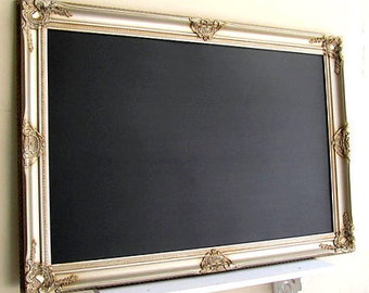 READY to SHIP Wedding CHALKBOARD Signage for Sale Large Champagne Chalk Board Magnetic Chalkboard Wedding Menu Silver Gold Home Office Decor