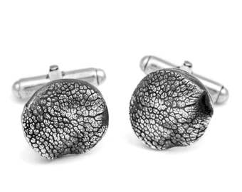 Dog Nose Print Cufflinks in Sterling Silver