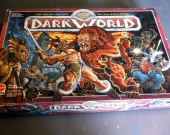 REPLACEMENT Parts for 1992 Mattel Dark World Game Board Instructions and pieces The Final Battle Begins