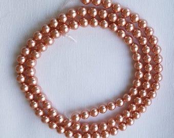 Bundles of Peach 4mm Swarovski Pearls