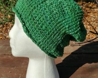 Hand Spun Hand Crocheted Merino Hat
