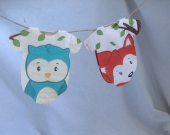 Woodland  Baby Shower  Napkins, Set of 20 Onesie Napkins