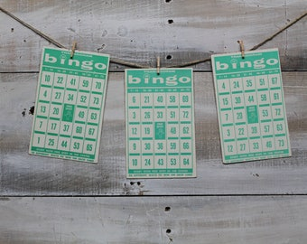 20 Vintage Bingo Game Cards, Transogram Bingo Cards, 1960's, Wedding Games
