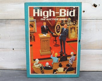 1965 High Bid The Auction Game, 3M Brand Bookshelf Games, Minnesota Mining and Manufacturing Company