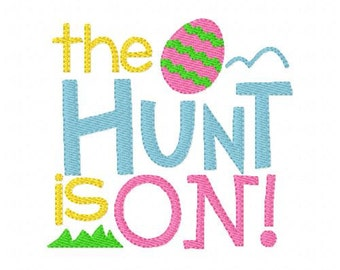 Easter Egg Hunt Is On Machine Embroidery Design // Joyful Stitches
