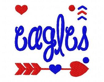Eagles //Football // Machine Embroidery Design // Sports Embroidery Design // Mascot Embroidery Design //Embroidery Design//Joyful Stitches