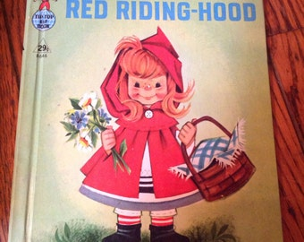 1958 Tip Top Elf Book Rand McNally Little Red Riding Hood