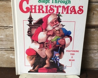 The Bear Who Slept Through Christmas Ideals hardback 1980