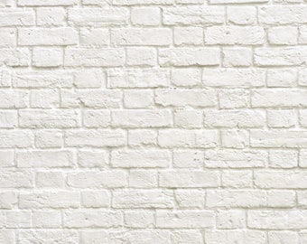 magnetic Photography Backdrop Floordrop white bricks