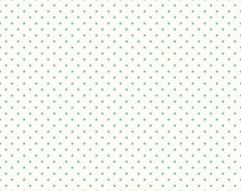 Le Creme Aqua swiss dots on cream basics blender by  Riley Blake - C600-20