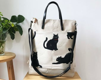 SALE-2way tote bag backpack bag with canvas strap/travel bag /diaper bag /Laptop bags/shoulder bag /Handbag/Japan style /luggage bag