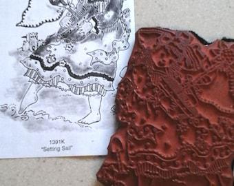 Penny Black Unmounted Rubber Stamp #1391 K Used Artist Studio Rubber Stamp