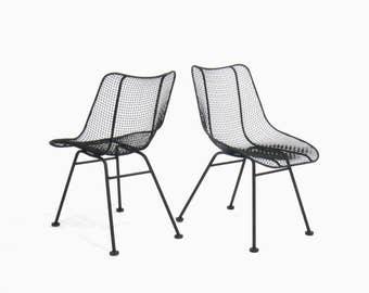 Mid Century Modern Russel Woodard Sculptura Side Chairs (Set of 2)