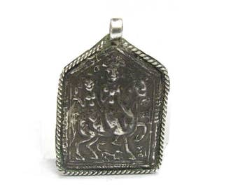 RARE, Antique Indian Amulet, Kandaras and Malsara, Patri Amulet, old India Amulet, High Grade Silver, Rajasthan, 5.8 Grams, Ethnic Tribal
