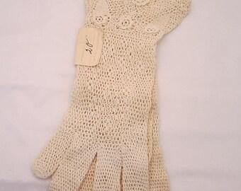 On Sale Vintage Knit Wedding Gloves New Old Stock
