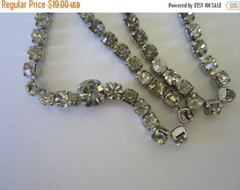 On Sale Rhinestone 1960s Necklace. Vintage Tennis Necklace