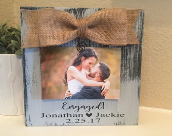 engagement frame etsy - Engagement Photo Frame