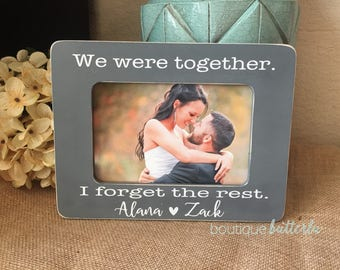 We Were Together I Forget The Rest Engagement Gift Personalized Engagement Frame Wedding Gift Walt Whitman Love Quote