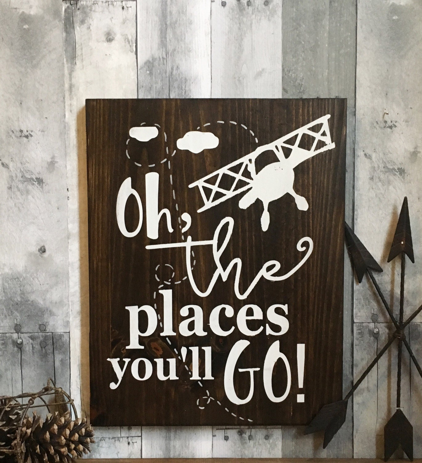 oh the places you ll go sign airplane nursery baby