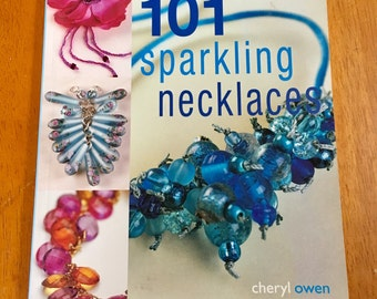 Jewelry Beading Tutorial how to manual 101 sparking necklaces illustrated instructions
