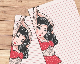 Inked - A5 Stationery - 12, 24 or 48 sheets