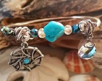 Gypsy Spirit Charm Bangle Bracelet