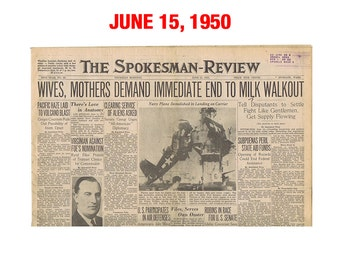 "Newspaper From June of 1950 - Spokane, WA Spokesman-Review ""Cold War News"""