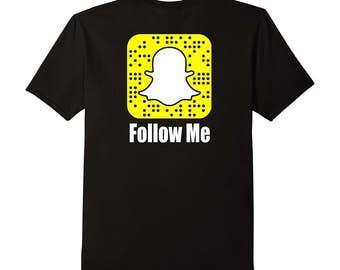 Custom Snapchat Snap Code Follow Me TShirt