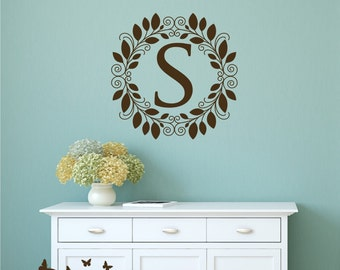 Custom Monogram Wall Decal, Personalized Monogram Decal,  Removable Wall Decals,  Room Decor,  Wall Sticker