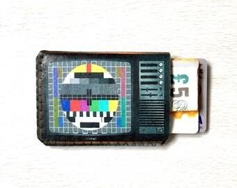 Retro TV Oyster Card Holder, Credit Card Holder, Business Card Holder, Business Card Wallet