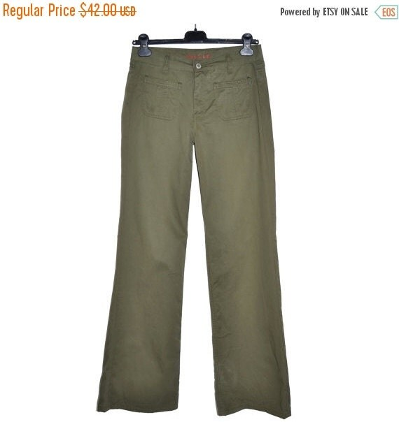 Original Women Olive Green Plan Trousers Online Shopping India Mango Women