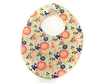 Woodland Floral Boutique Bib - New Baby Gift, Personalized Baby Gift, New Baby Girl