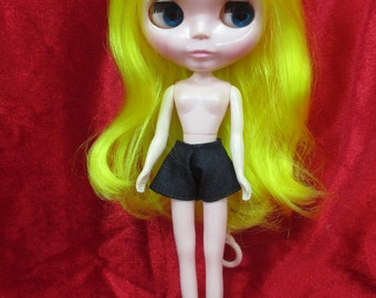 Handcrafted clothing pants shorts for Blythe Basaak doll # black